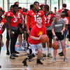 Georgia football players visit Camp Sunshine for the first of two trips by team members - June 18, 2019.