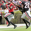 Riley Ridley (8) and Tyrique McGhee (26)