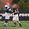 Justin Fields and Jonathan Ledbetter  - Spring Practice Day 7 - April 3, 2018