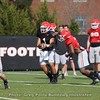 Justin Fields hands off to Zamir White  - Spring Practice Day 7 - April 3, 2018