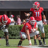 Isaiah Wilson (79), Ben Cleveland (74) and Jake Fromm (11)