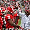 Brian Herrien (35) and UGA Running Backs Coach Dell McGee