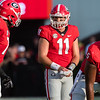 Jake Fromm (11) and D'Andre Swift (7)