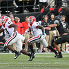 Tyler Simmons (87) and D'Andre Swift (7)
