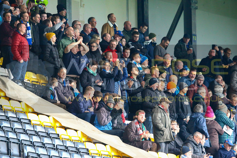 Barrow crowd before the game during the  match Notts County v Barrow at Meadow Lane on 16th November 2019 in Nottingham, England (Photo by Arthur Haigh/WhiteRosePhotos)
