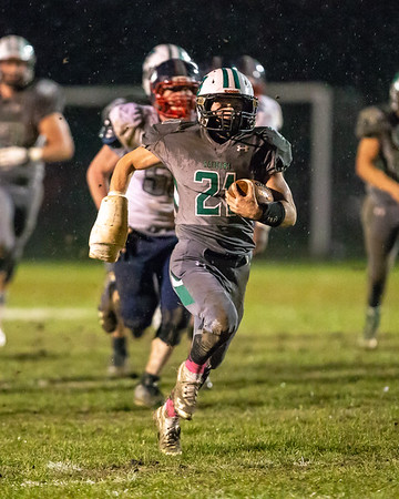 Columbia Ben Alten breaks free for a touchdown against Oberlin Friday October 26.  photo Joe Colon