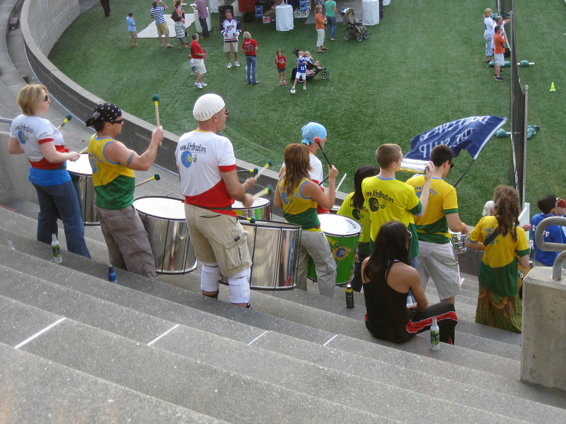 Bloco percussion band from the Afro Brazil organization.