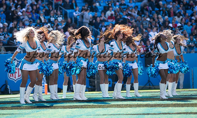Carolina Panthers cheerleaders.