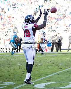 Atlanta Falcons wide receiver Drew Davis (19)