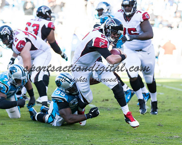 Atlanta Falcons quarterback Matt Ryan (2), Carolina Panthers defensive end Charles Johnson (95)