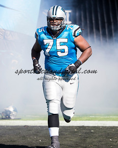 Carolina Panthers guard Chris Scott (75)