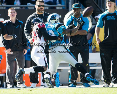 Atlanta Falcons cornerback Asante Samuel (22), Carolina Panthers wide receiver Steve Smith (89)