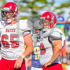 Bates College Bobcats offensive lineman Sean Lovett (65)