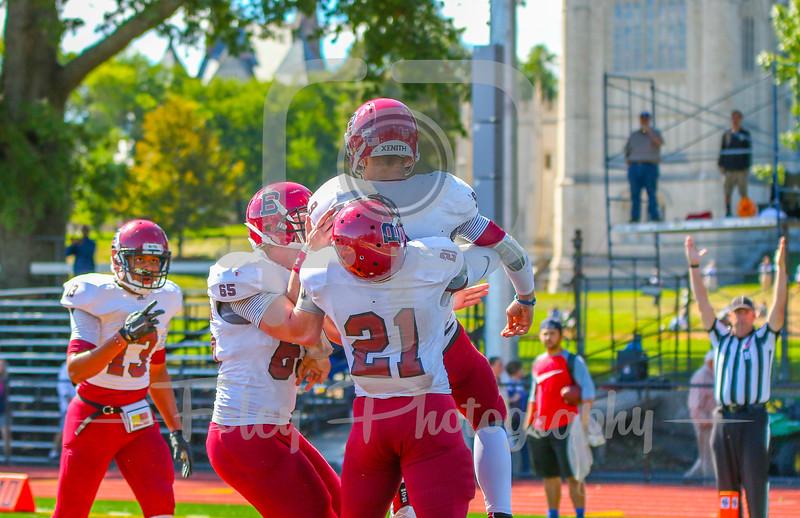 Bates College Bobcats quarterback Sandy Plashkes (9)