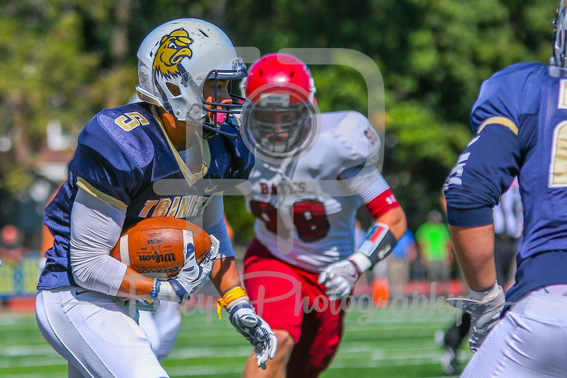 Saturday, September 24, 2016; Hartford, CT;  during the Trinity Bantams 38-7 victory over the Bates Bobcats at Jessee/Miller Field in Hartford, CT.