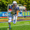 Trinity College Bantams running back Max Chipouras (22)