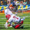 Bates College Bobcats defensive back Coy Candelario (7)