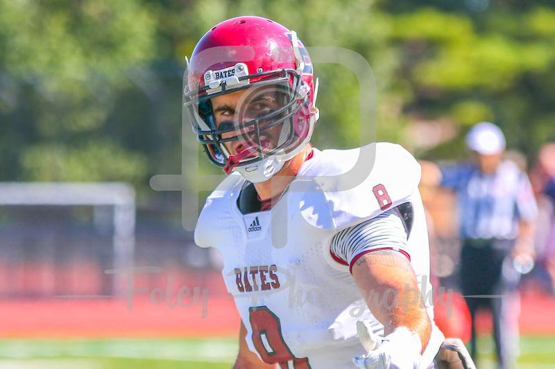 Bates College Bobcats wide receiver Noah Stebbins (8)
