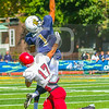 Trinity College Bantams wide receiver Nick Gaynor (1) Bates College Bobcats defensive back Brandon Williams (17)