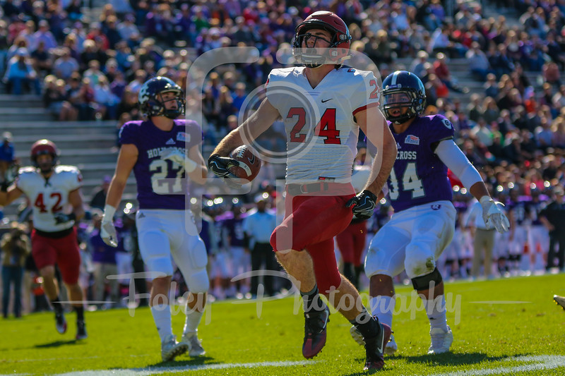 Harvard Crimson running back Noah Reimers (24)