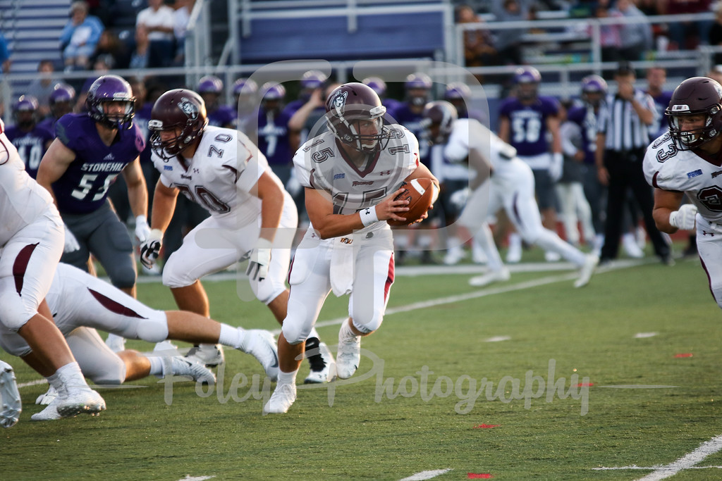 Bloomsburg Huskies quarterback Chris Palubinsky (15)