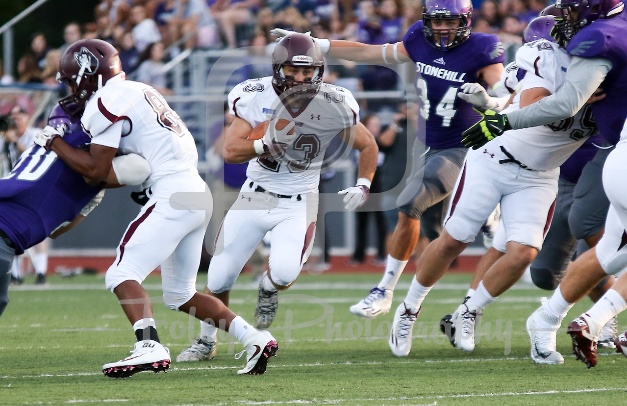 Bloomsburg Huskies running back Joe Parsnik (23)