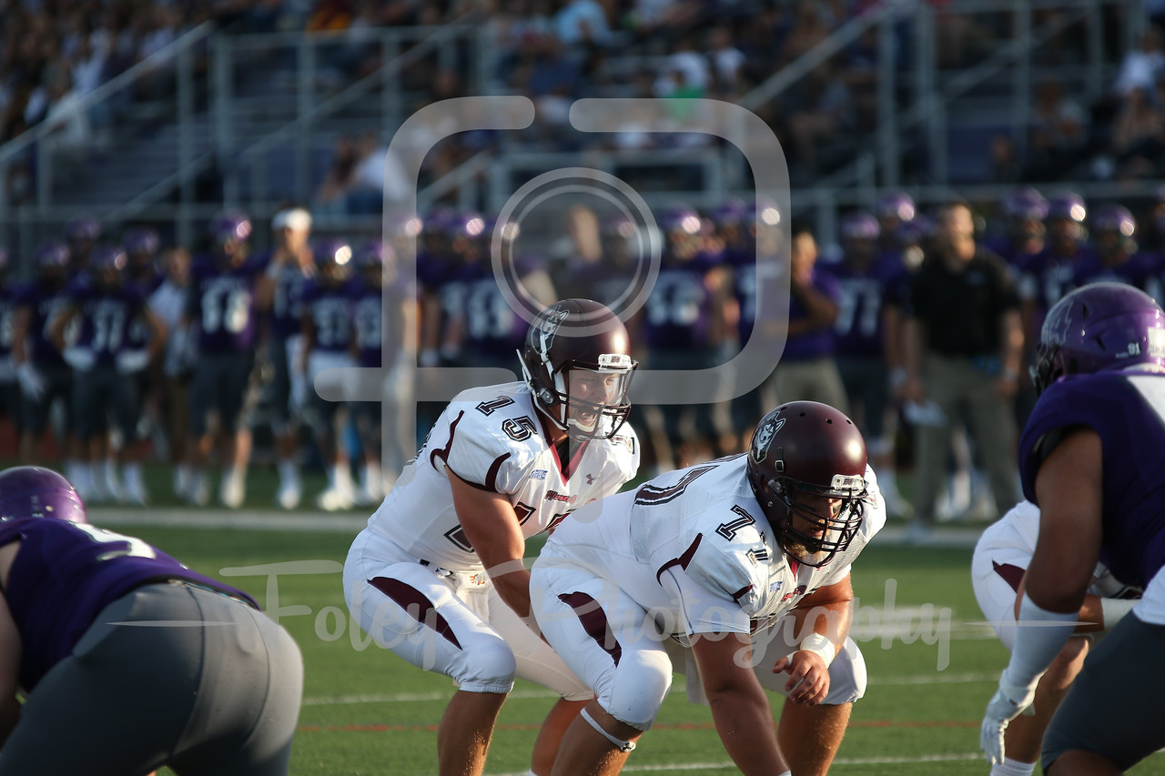 Bloomsburg Huskies quarterback Chris Palubinsky (15)