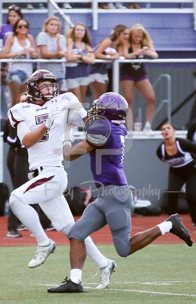 Bloomsburg Huskies wide receiver Chad Hoffman (7) Stonehill Skyhawks Jerel Archer (7)