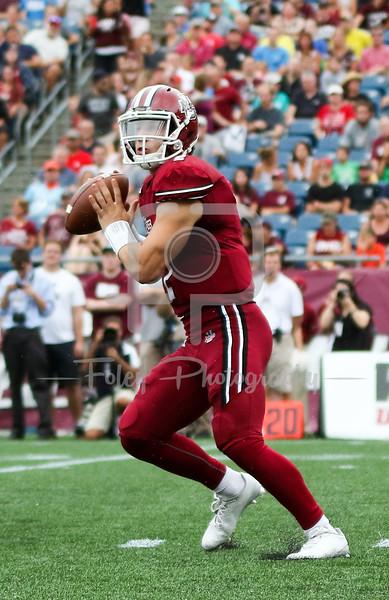 Massachusetts Minutemen quarterback Ross Comis (2)