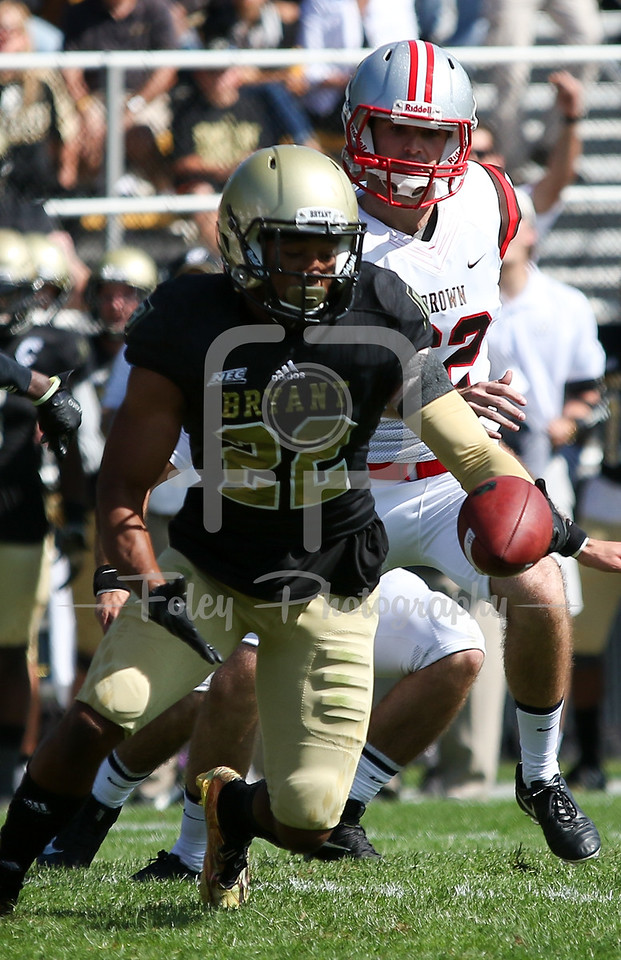 Bryant University Bulldogs defensive back Aaron Gilmer (22)