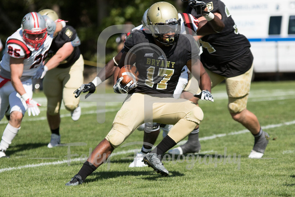 Bryant University Bulldogs running back Ryan Black (17)