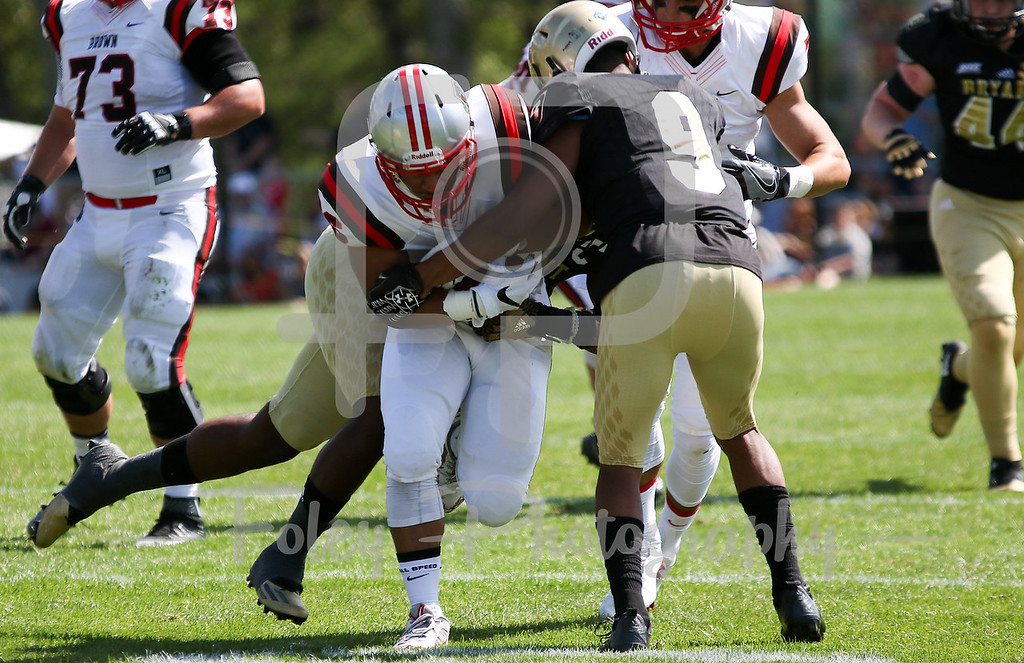 Brown Bears running back Jalen Broome (26)