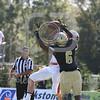 Brown Bears wide receiver Alexander Jette (7) Bryant University Bulldogs defensive back Brandon Owens (6)