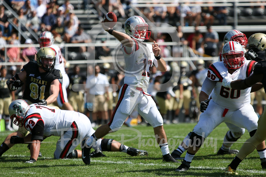 Saturday, September 17, 2016; Smithfield, Rhode Island;  during the Brown's 35-27 victory over Bryant University.