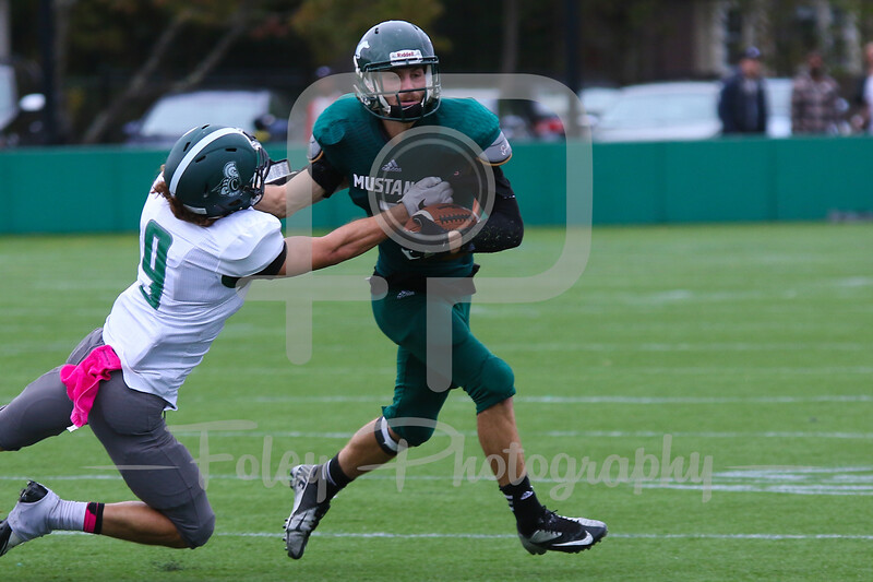Saturday, October 8, 2016; Newton, Massachusetts;  Castleton's 26-14 victory over Mount Ida.