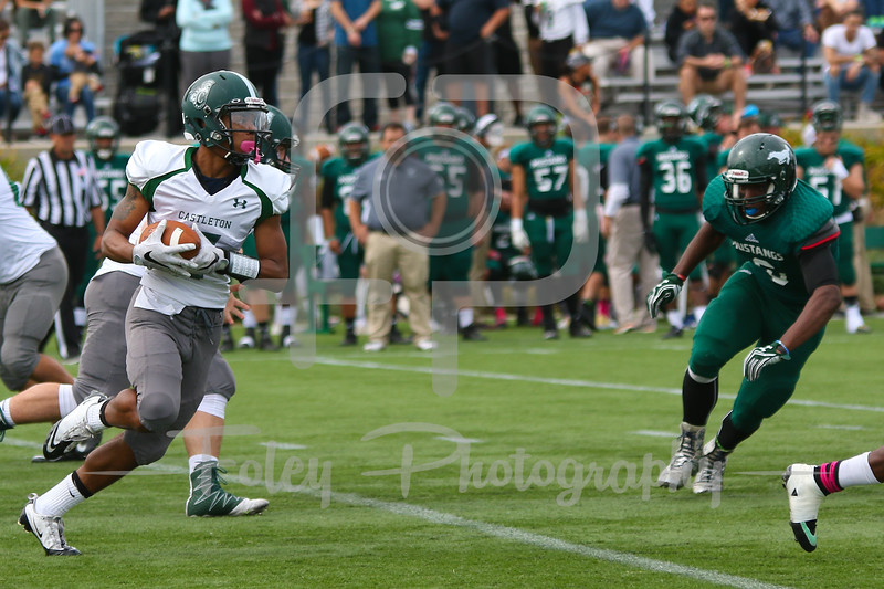 Castleton University wide receiver Makai Hawkins (7)
