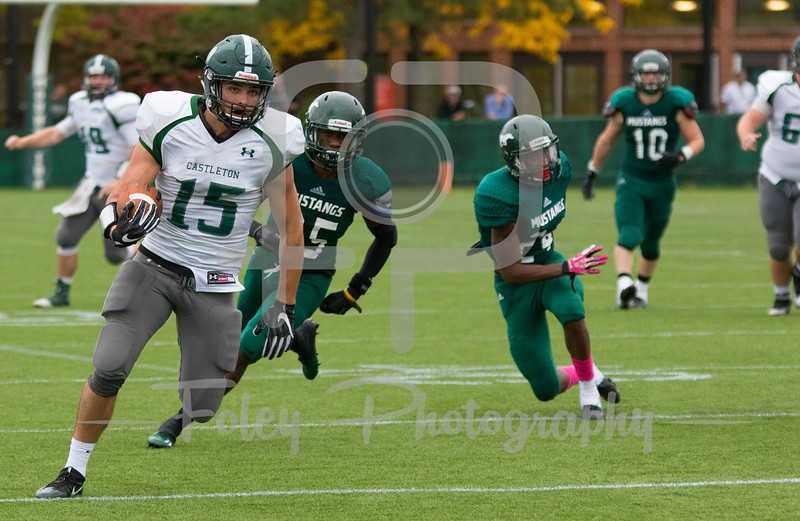 Castleton University tight end Edward Doton (15)