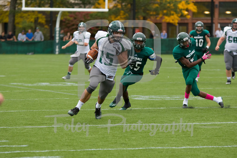Castleton University tight end Edward Doton (15)