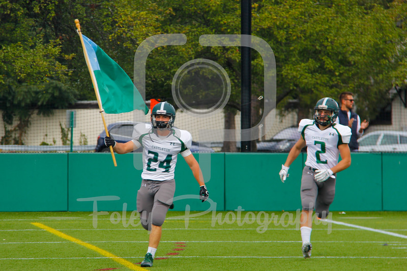 Castleton University defensive back Tyler Sturtevant (24)