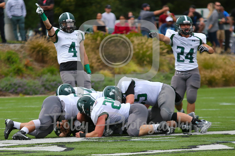 Castleton University Defense Reacts to a Fumble
