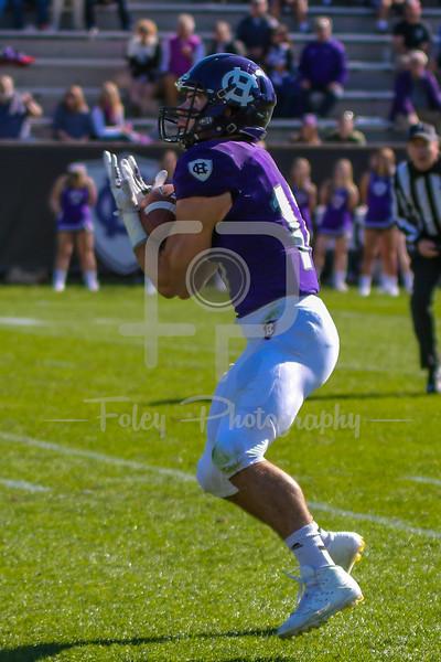Holy Cross wide receiver Jake Wieczorek (10)