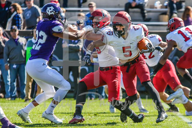 Harvard Crimson running back Alex LaPolice (5)