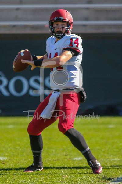 Harvard Crimson quarterback Tom Stewart (14)