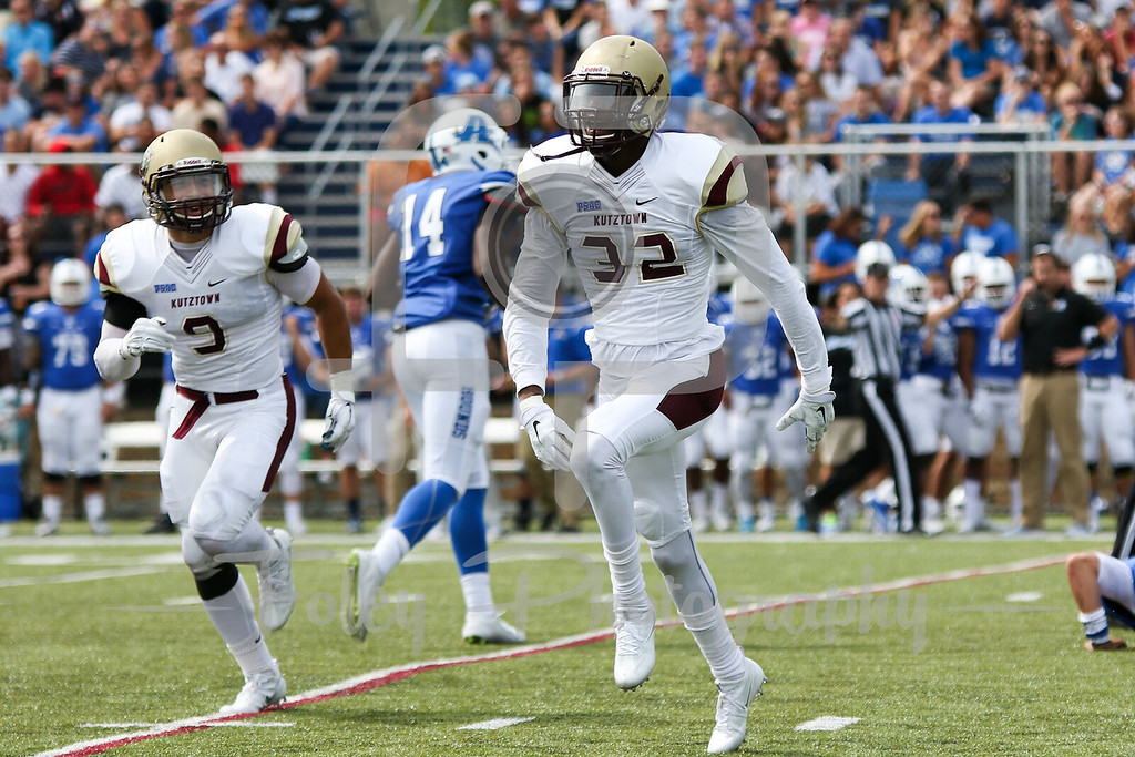 Kutztown Golden Bears cornerback Jhaloni Johnson (32)