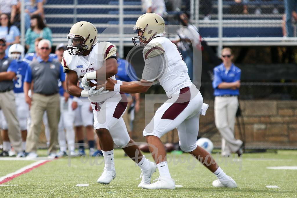 Kutztown Golden Bears quarterback Terence Scanlon (6) Kutztown Golden Bears running back Darrell Scott (23)