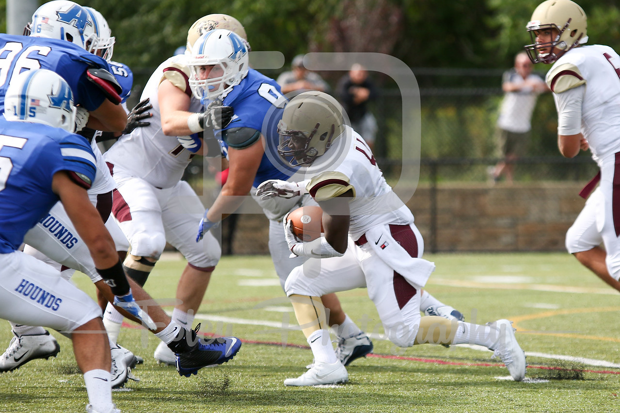 Saturday, September 3, 2016; Worcester, Massachusetts;  during the Assumption Greyhounds 45-21 victory over the Kutztown Golden Bears at Multi-Sport Stadium in Worcester Massachusetts
