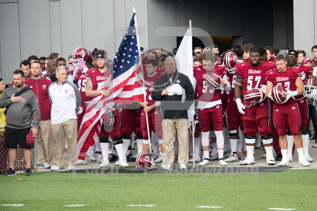 Massachusetts Minutemen Stand for the Anthem