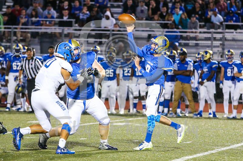 Worcester State Lancers quarterback Noah Brum (9)