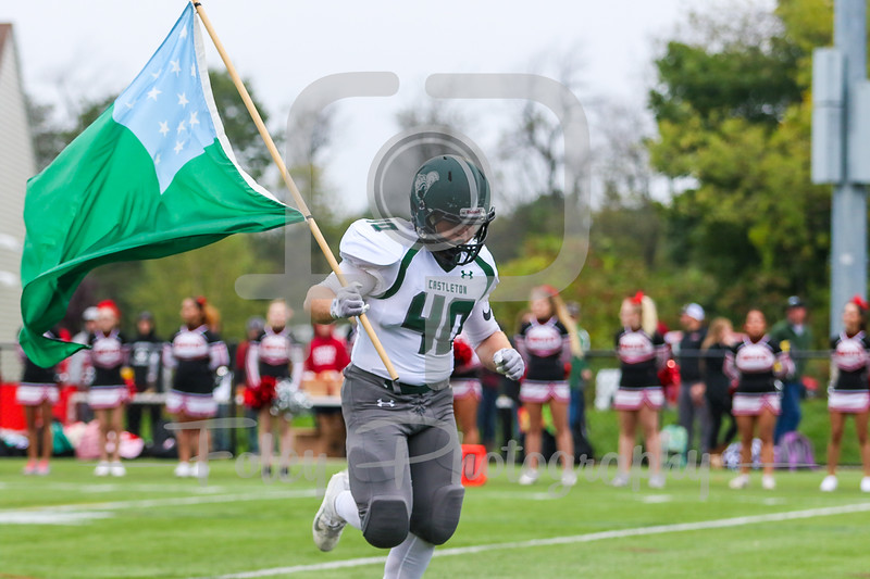 Castleton University Spartans fullback Chris Oettinger (40)