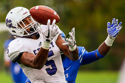 Curry College Colonels wide reciever Spencer Tyler (5)